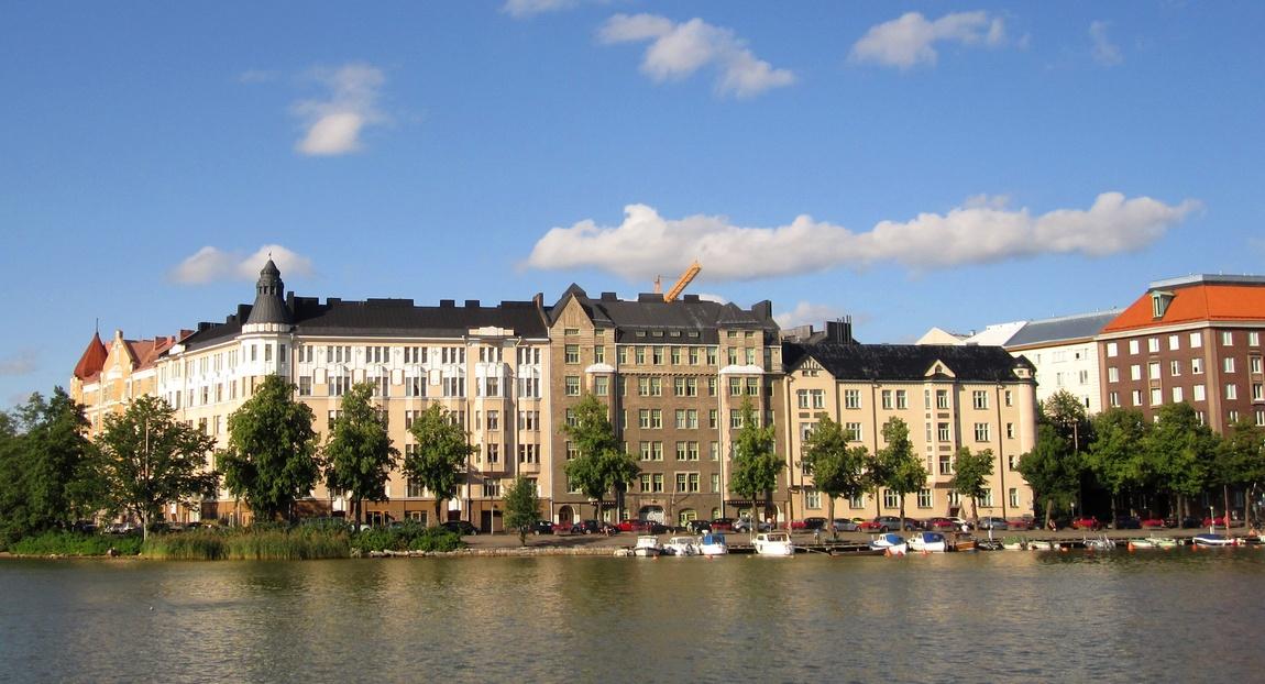 Набережная, старый город. Хельсинки, Финляндия