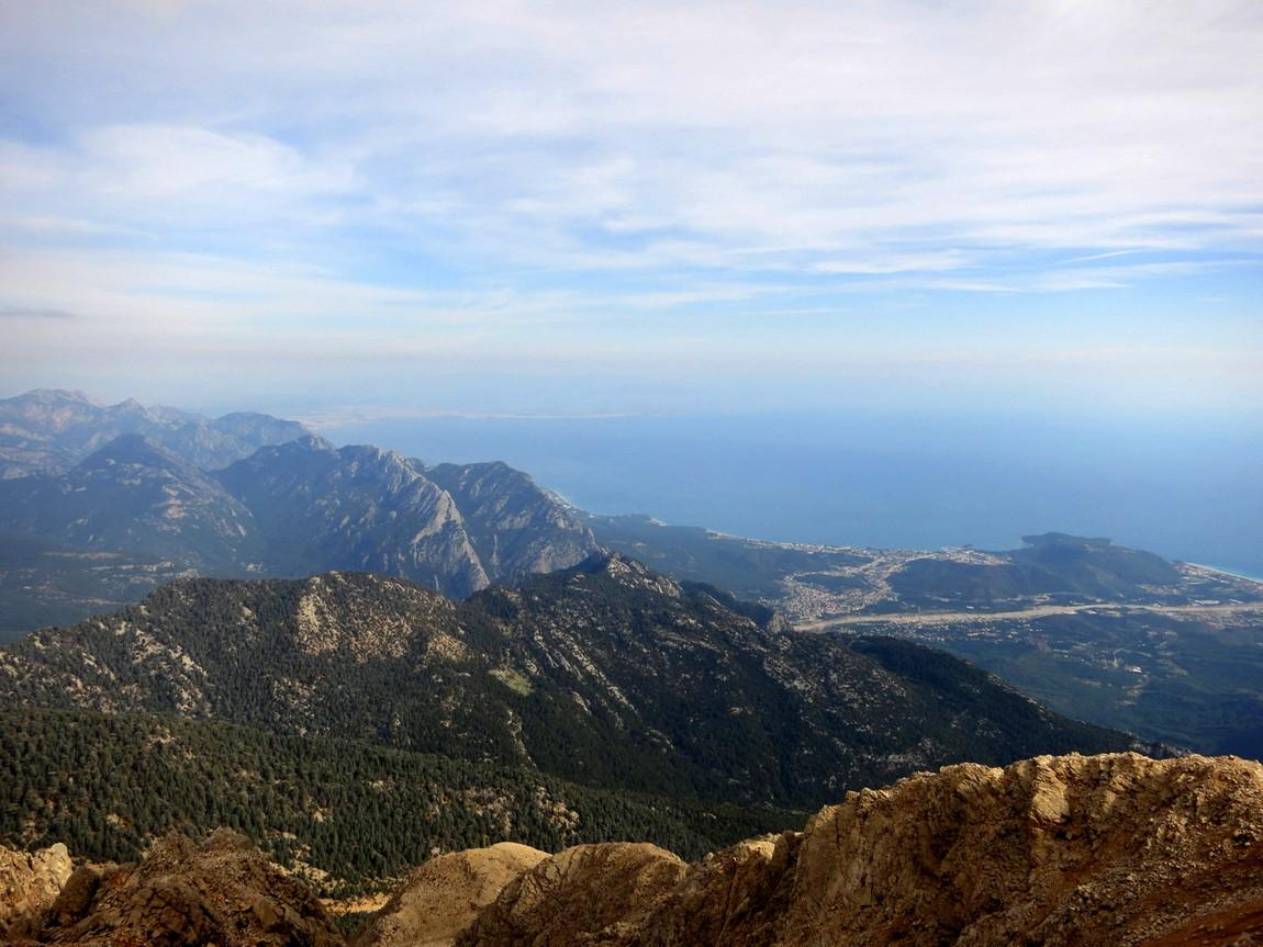 Вид с горы Тахталы, Турция