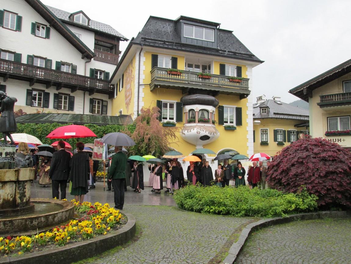 Местный праздник в Санкт Гильгене Австрия