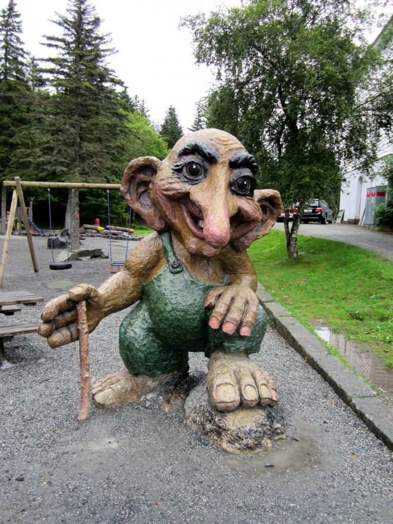 Сказочный Тролль в Норвегии.