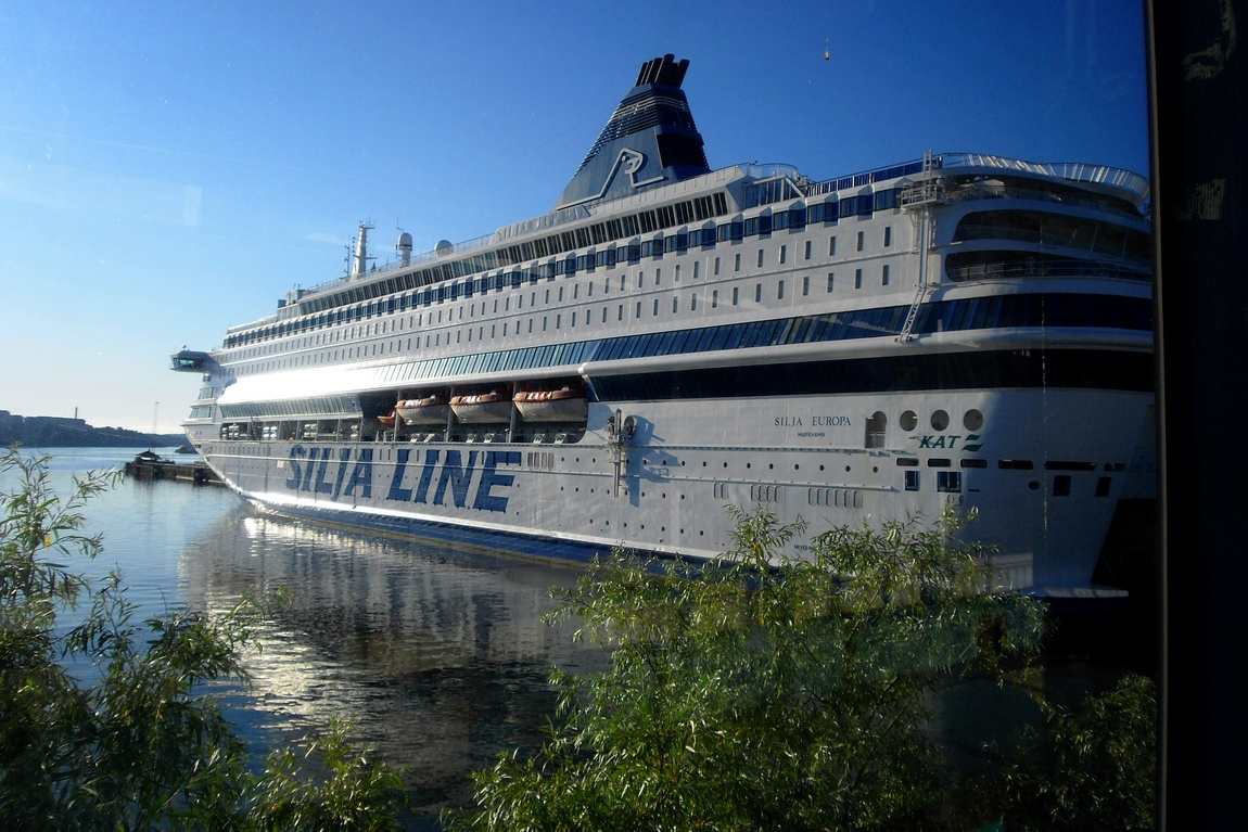 Морское судно Хельсинки -Турку в Финляндии.