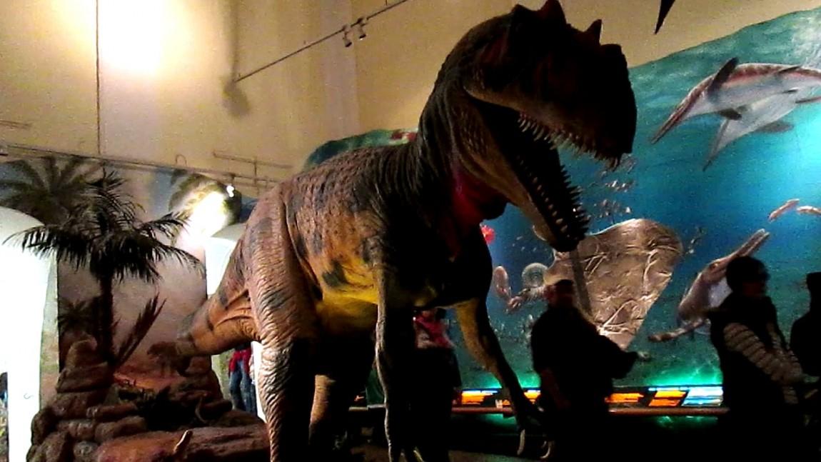 Динозавр в музее природы в Австрии
