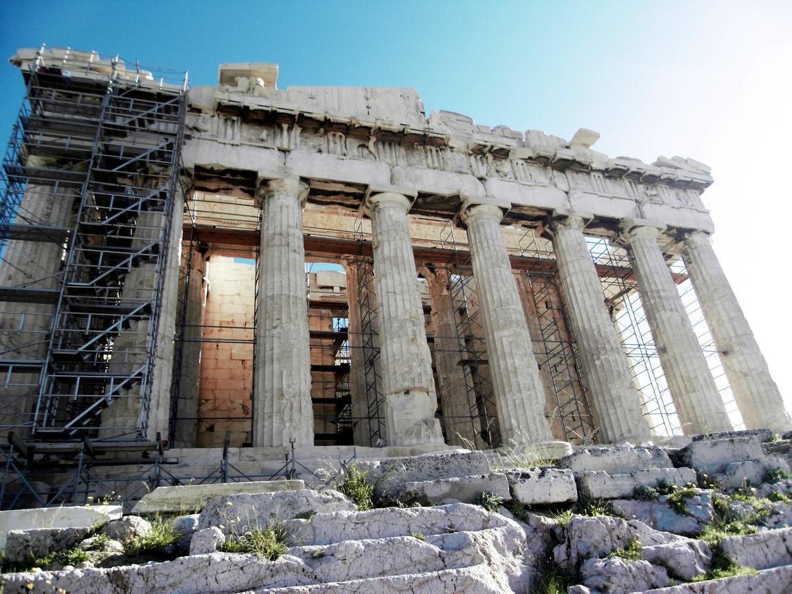Пафенон на Акрополе в Афинах (Греция)