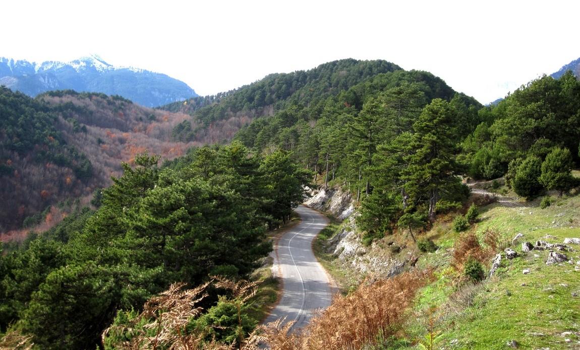 Дорога к горе Олимп, Греция
