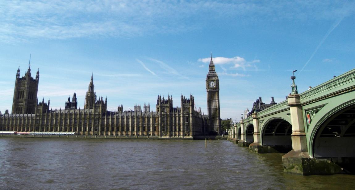 Вид на парламент в Лондоне