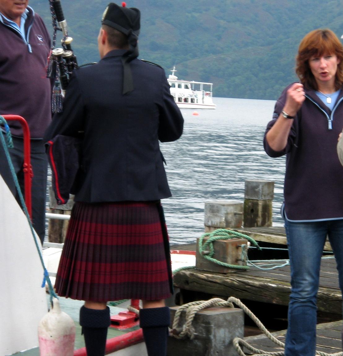 Шотландец на озере Лох-Ломонд