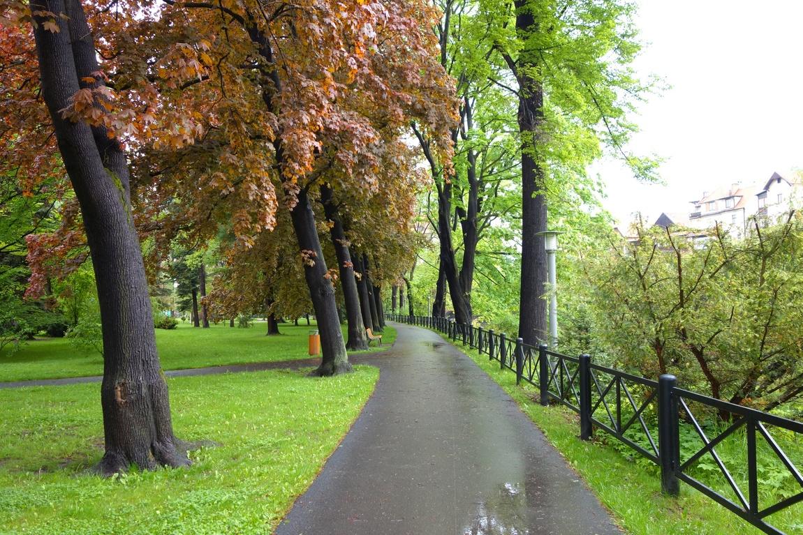 Парк в Чешском Крумлове