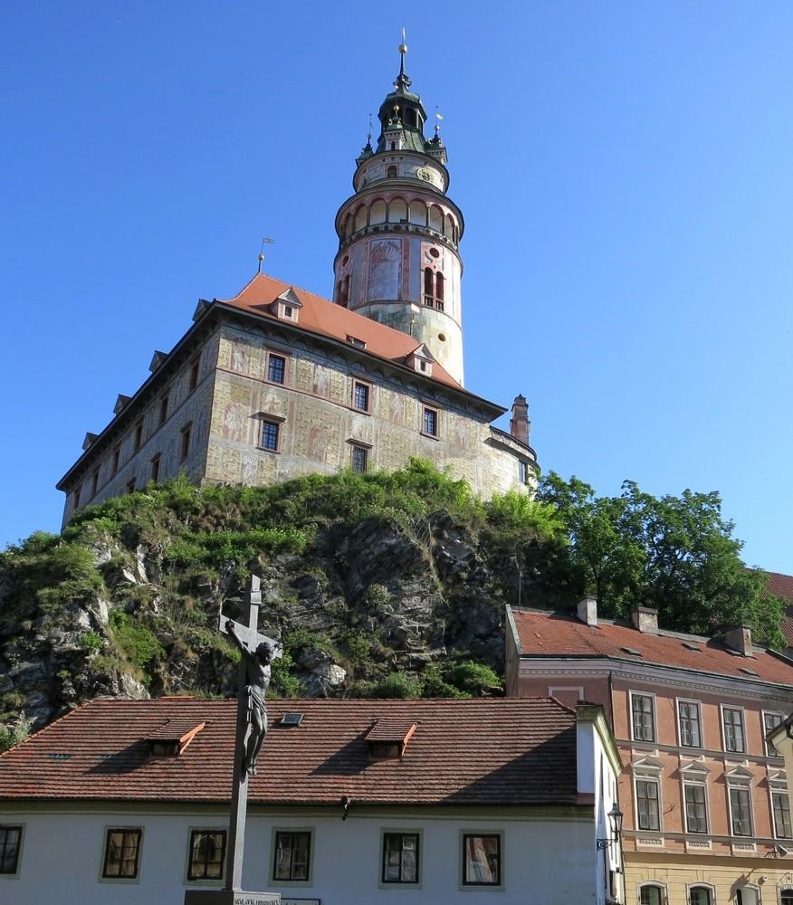 Замковая башня в Крумловском замке (Чехия)