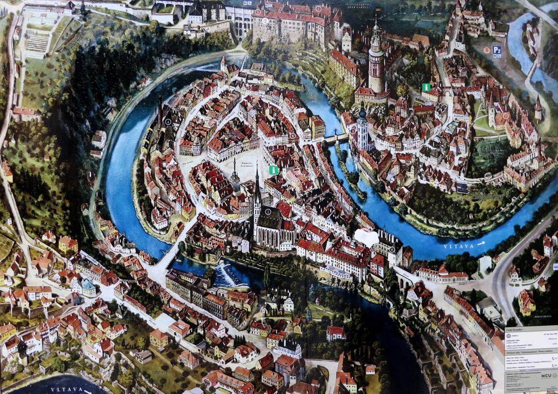 Схема Чешского Крумлова