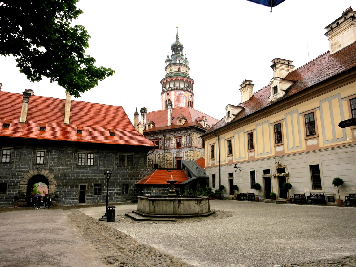 Крумловский замок в Чешском Крумлове