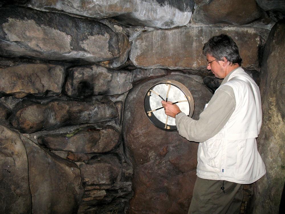 Бубен в пещере Англии