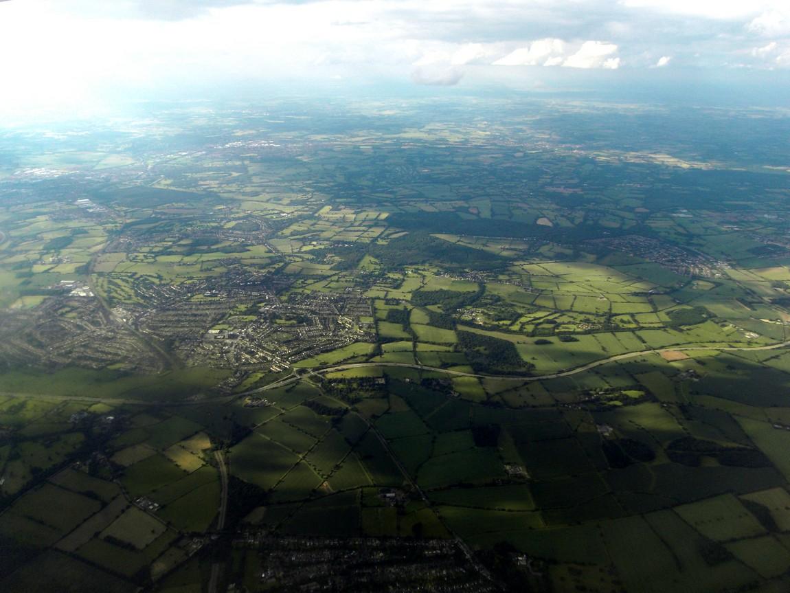 Англия из самолета