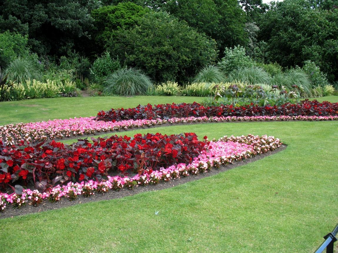 Цветники в Гайд-парке (Англия)