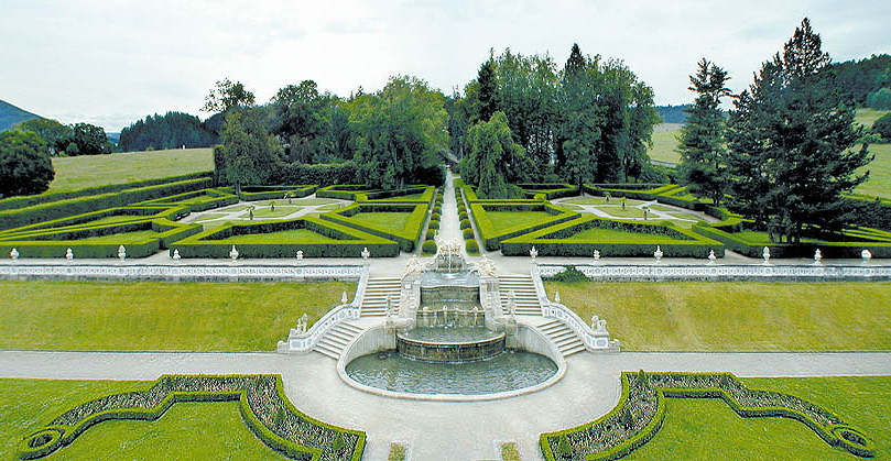Королевские сады в Чешском Крумлове (Чехия)