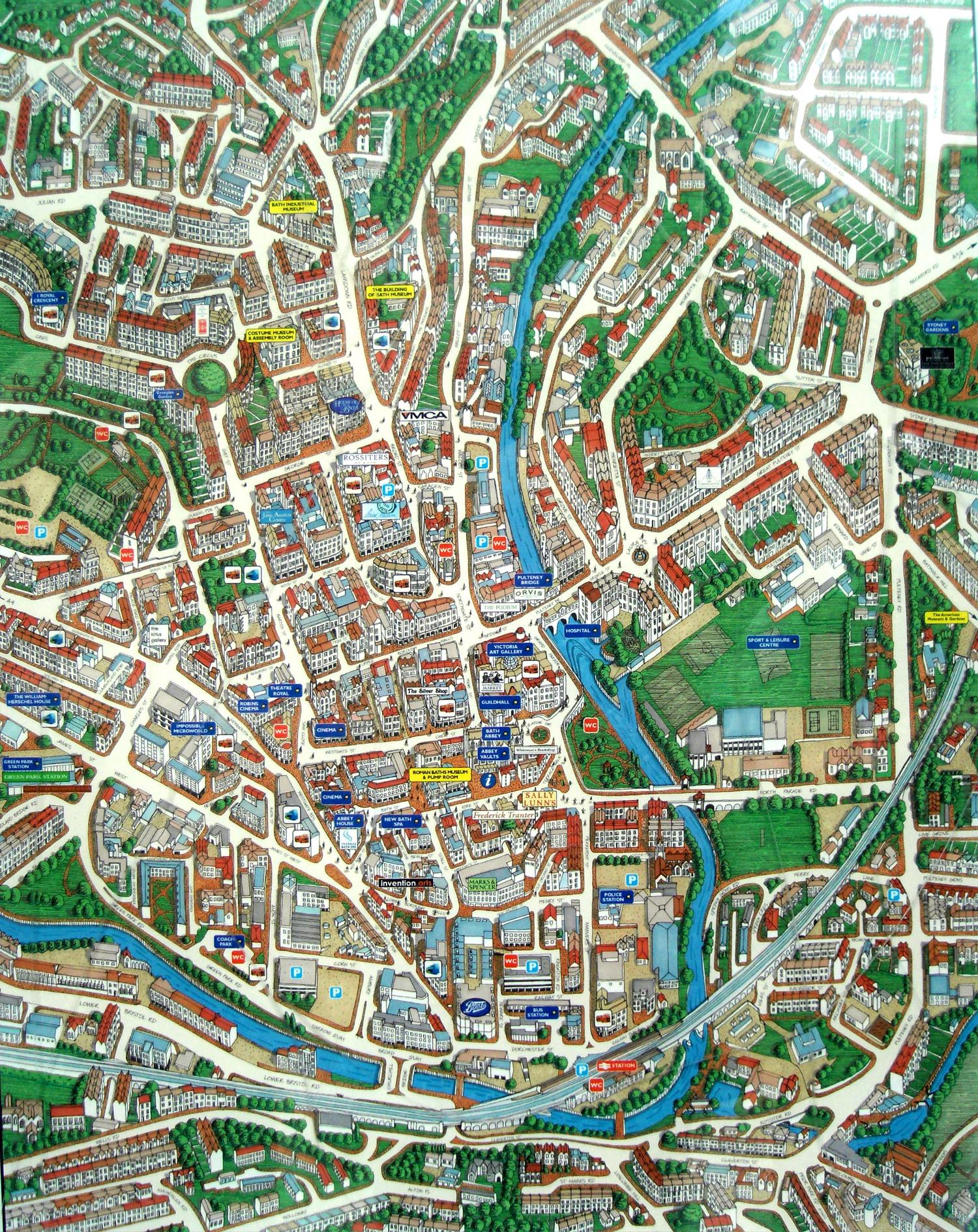 Схема города Бат