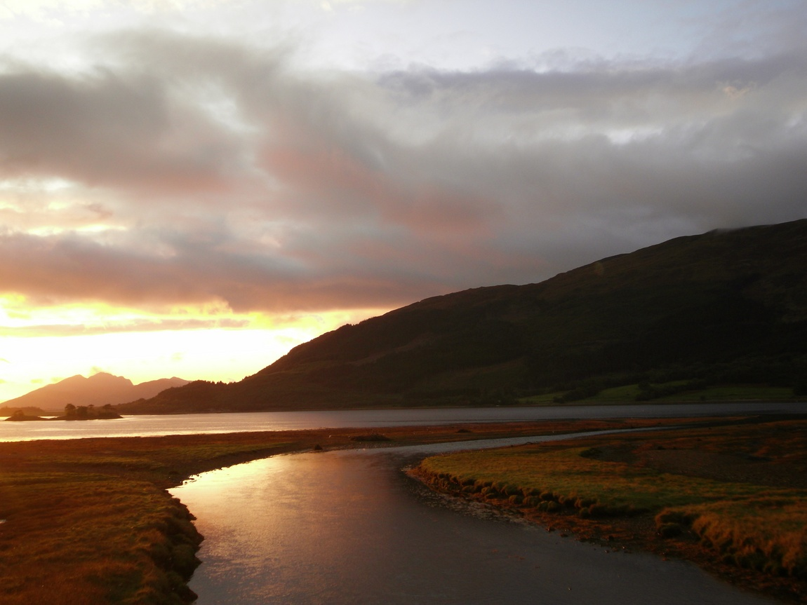 Закат в Шотландии