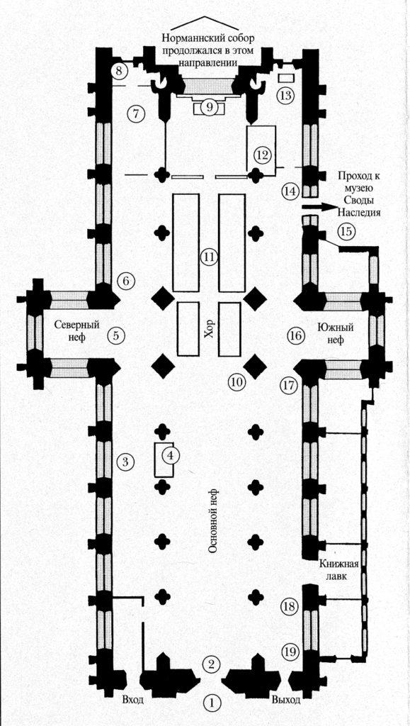 Схема Аббатского собора