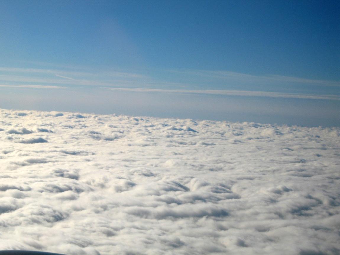 Самолет и небо