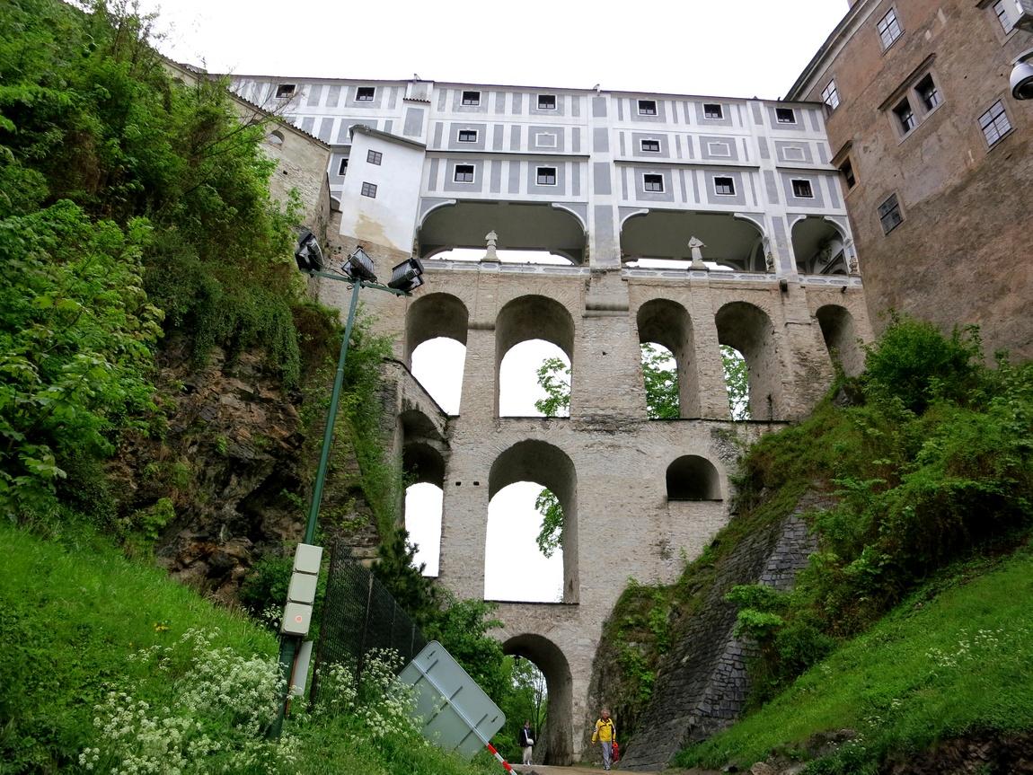 Плащевой мост Чешский Крумлов