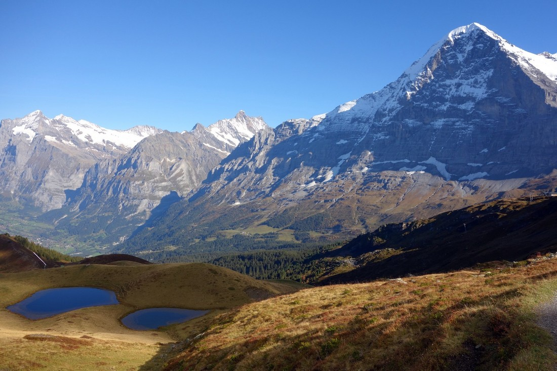 Горы Швейцарии - вершина горы Эйгер