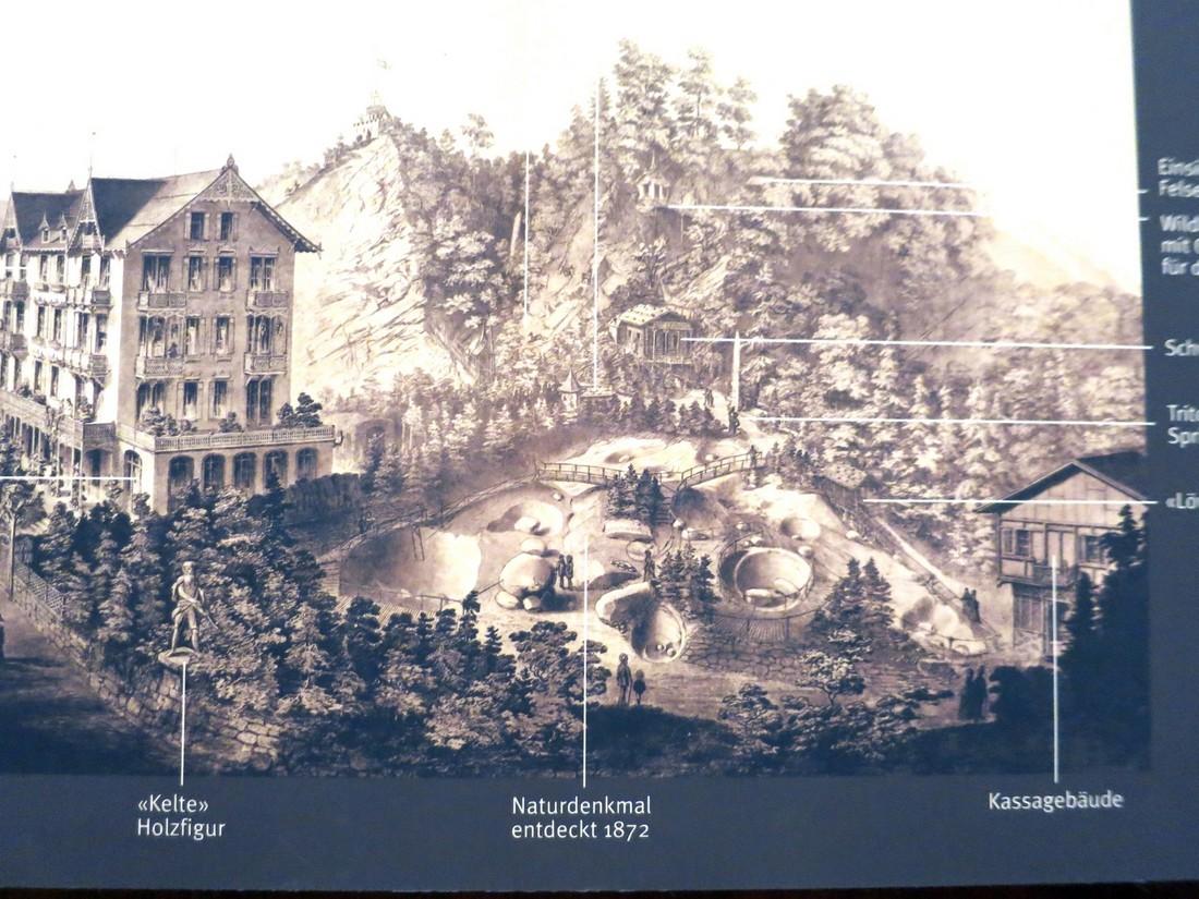 Старинная фотография места , где найден ледник в Люцерне