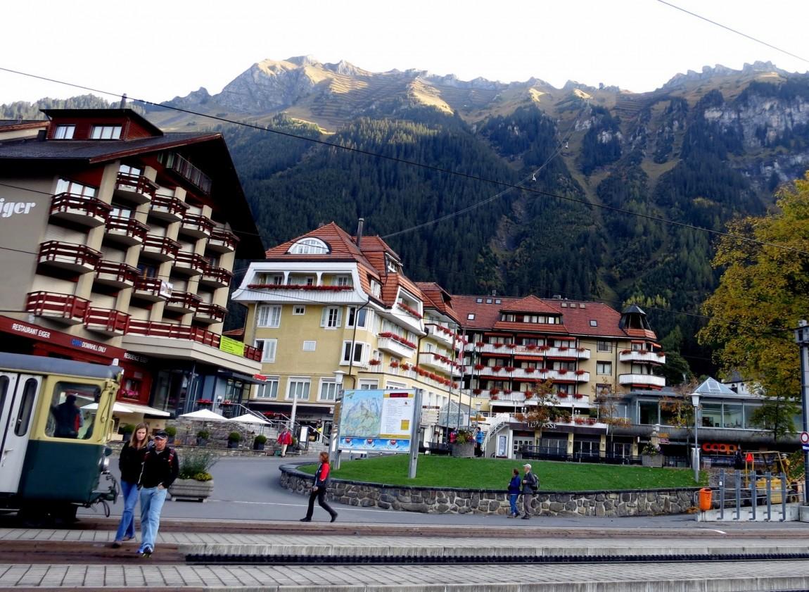 Городок Венген (Wengen). в Швейцарии