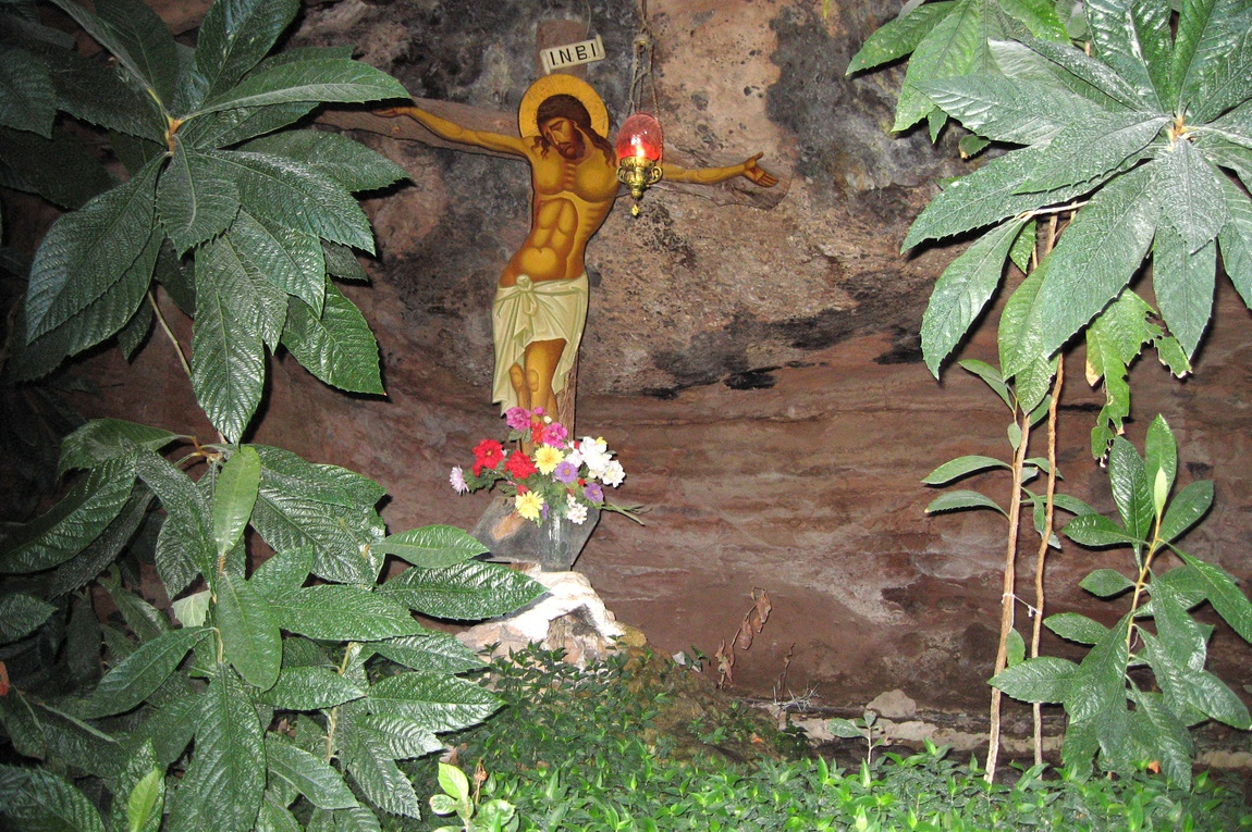 Иисус и сад в пещере Святого Луки