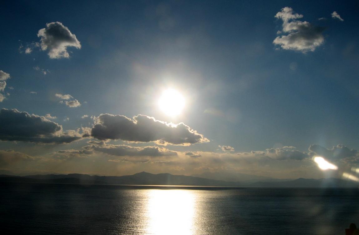 Солнце перед закатом