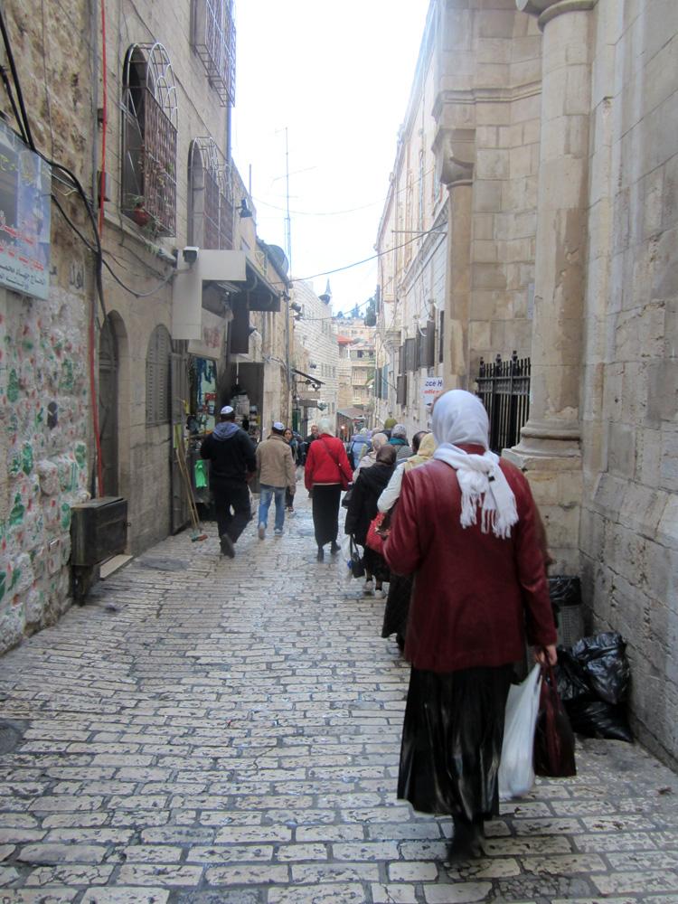 Улица по которой шел крестный ход.