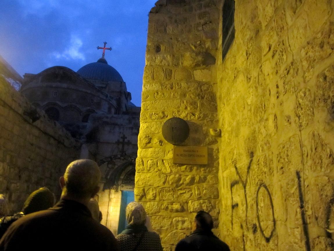 Место третьего падения Христа.