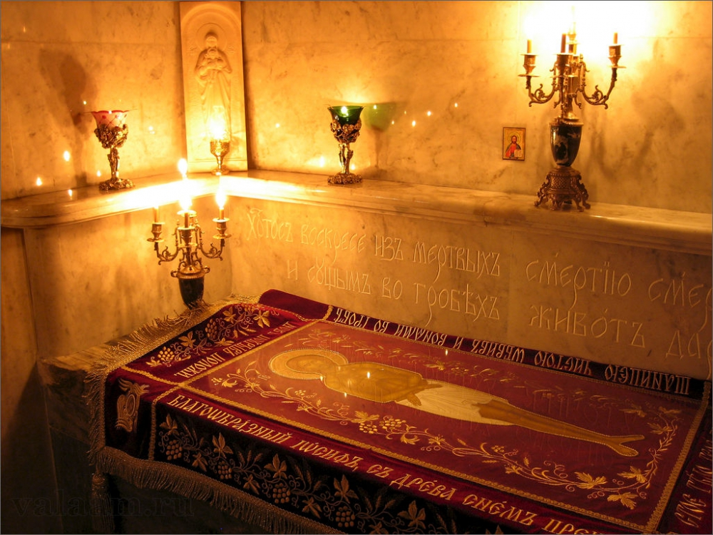 В кувуклии, нижний храм Воскресенского скита