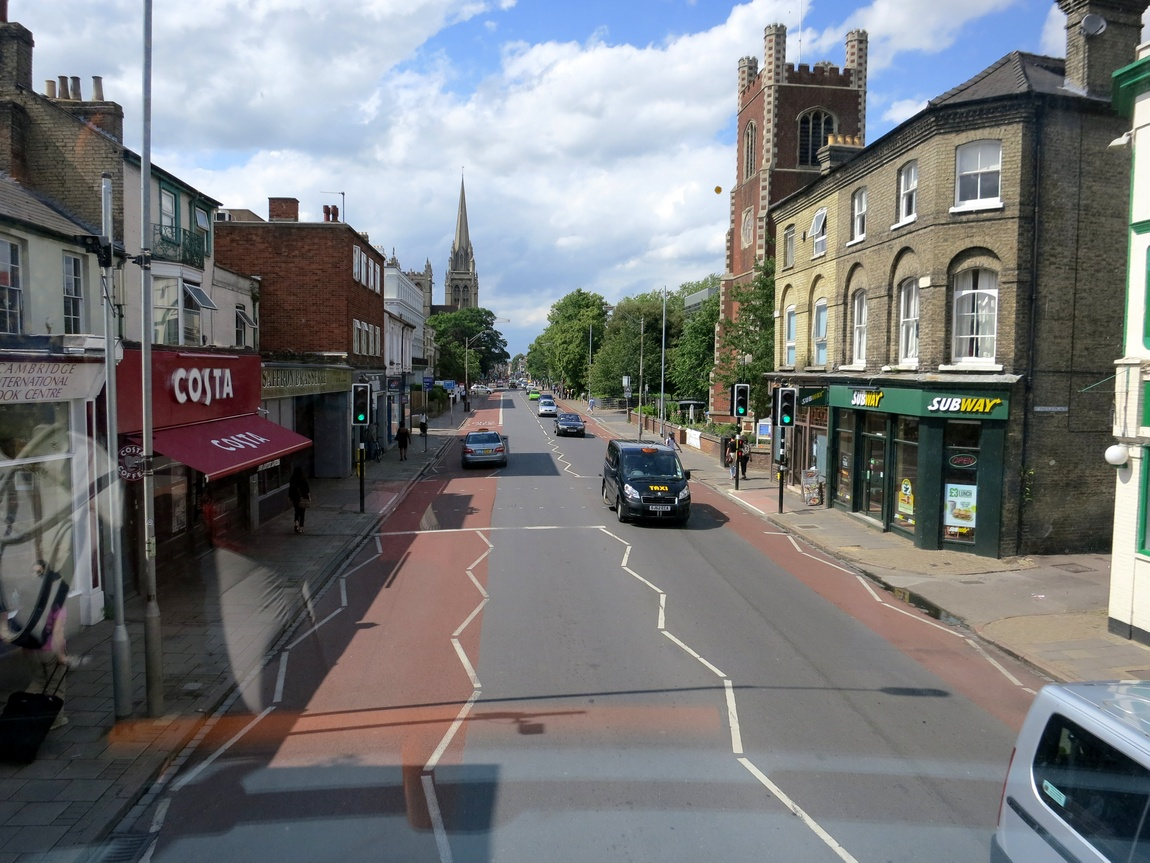 Улицы Кембриджа (вид из автобуса)