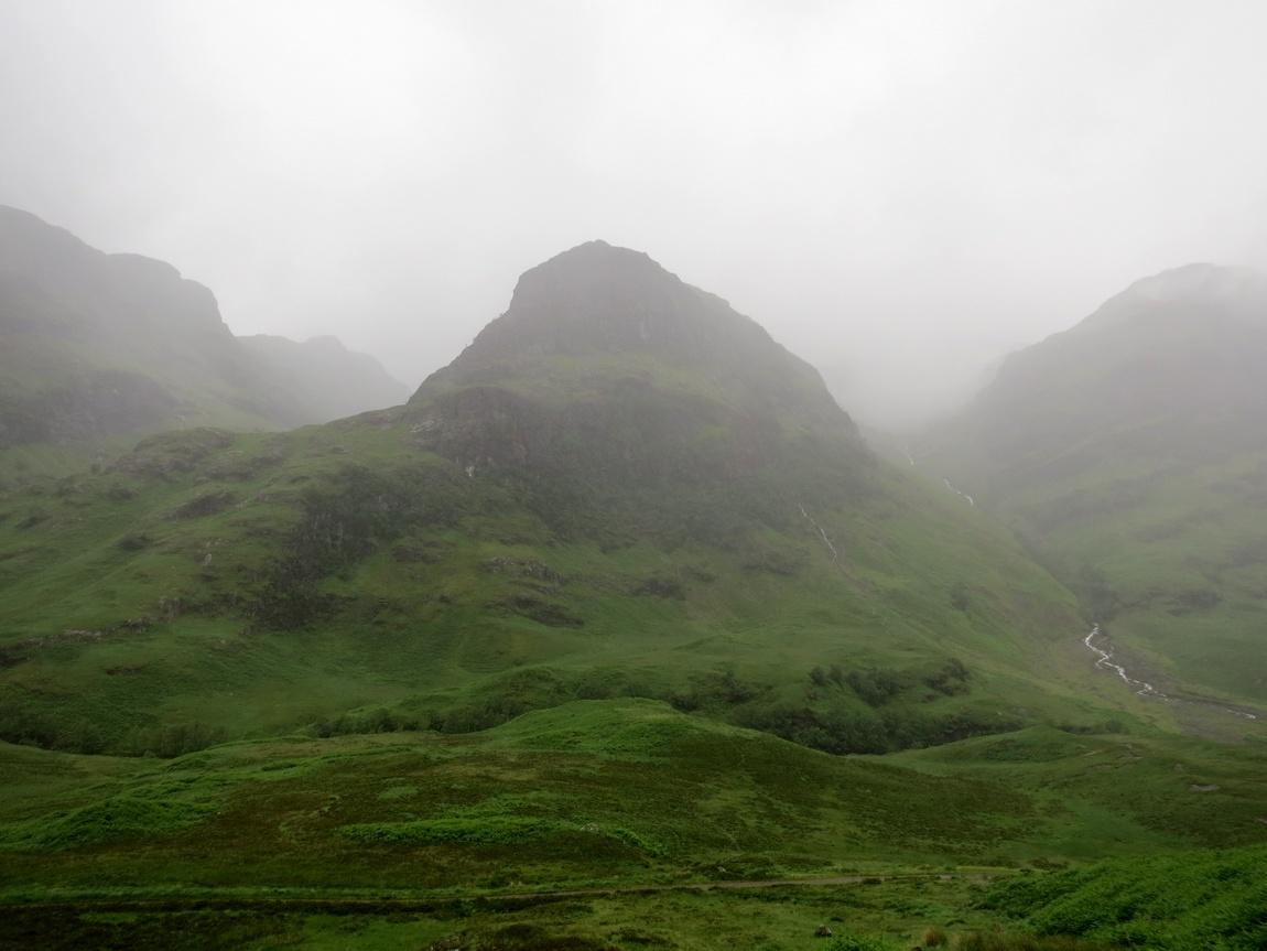 Долина Гленко, дождливая погода