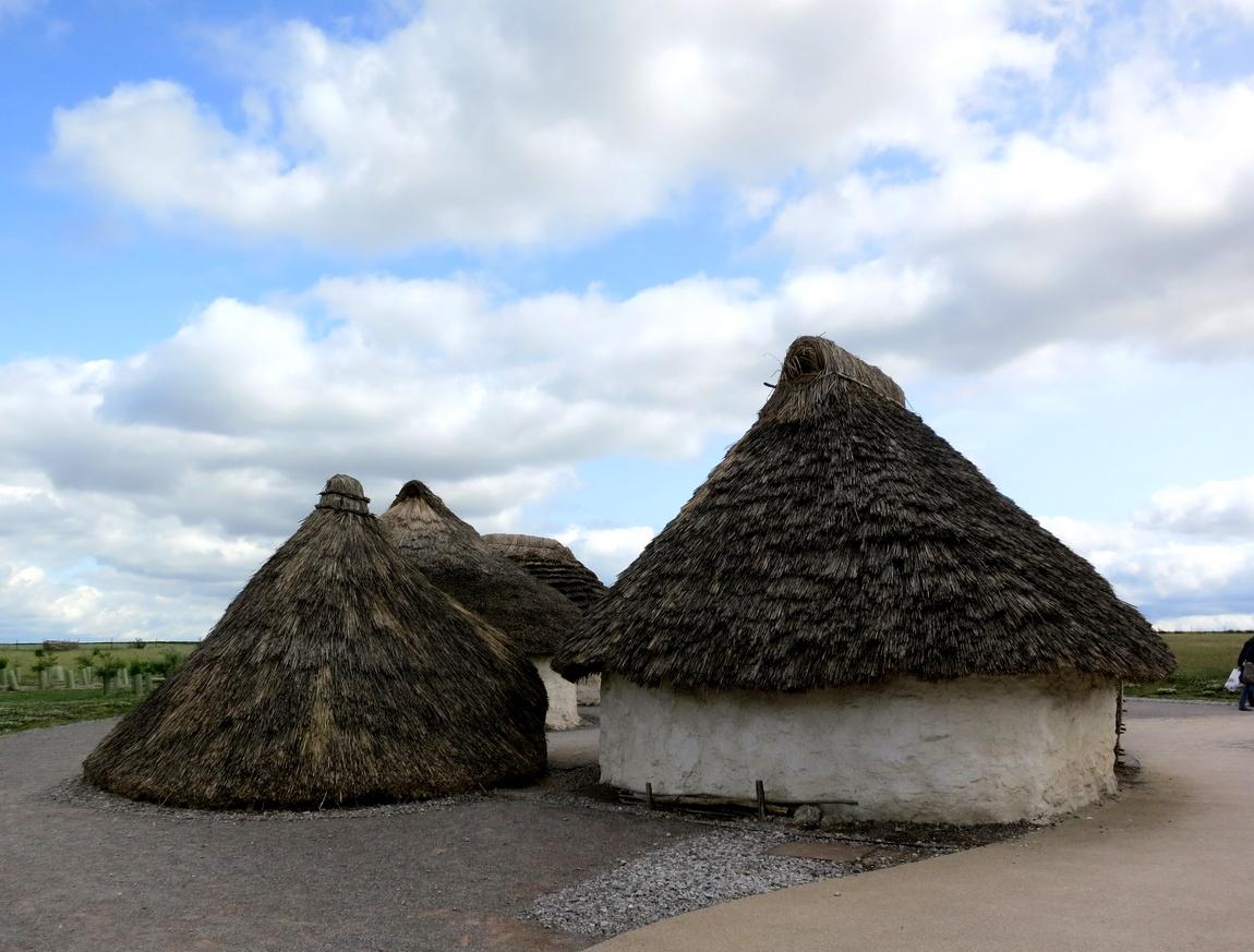 Домики с соломенной крышей Англия
