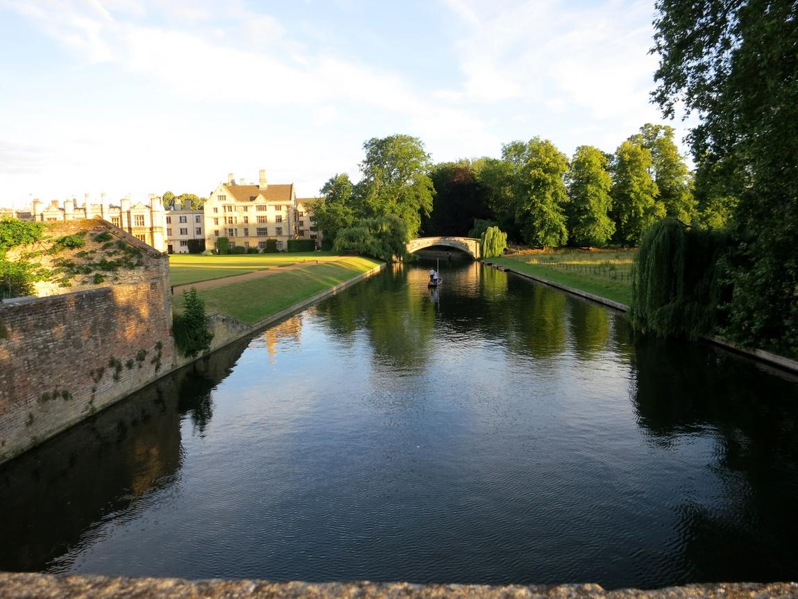 Вечером в Кембридже, река Кем