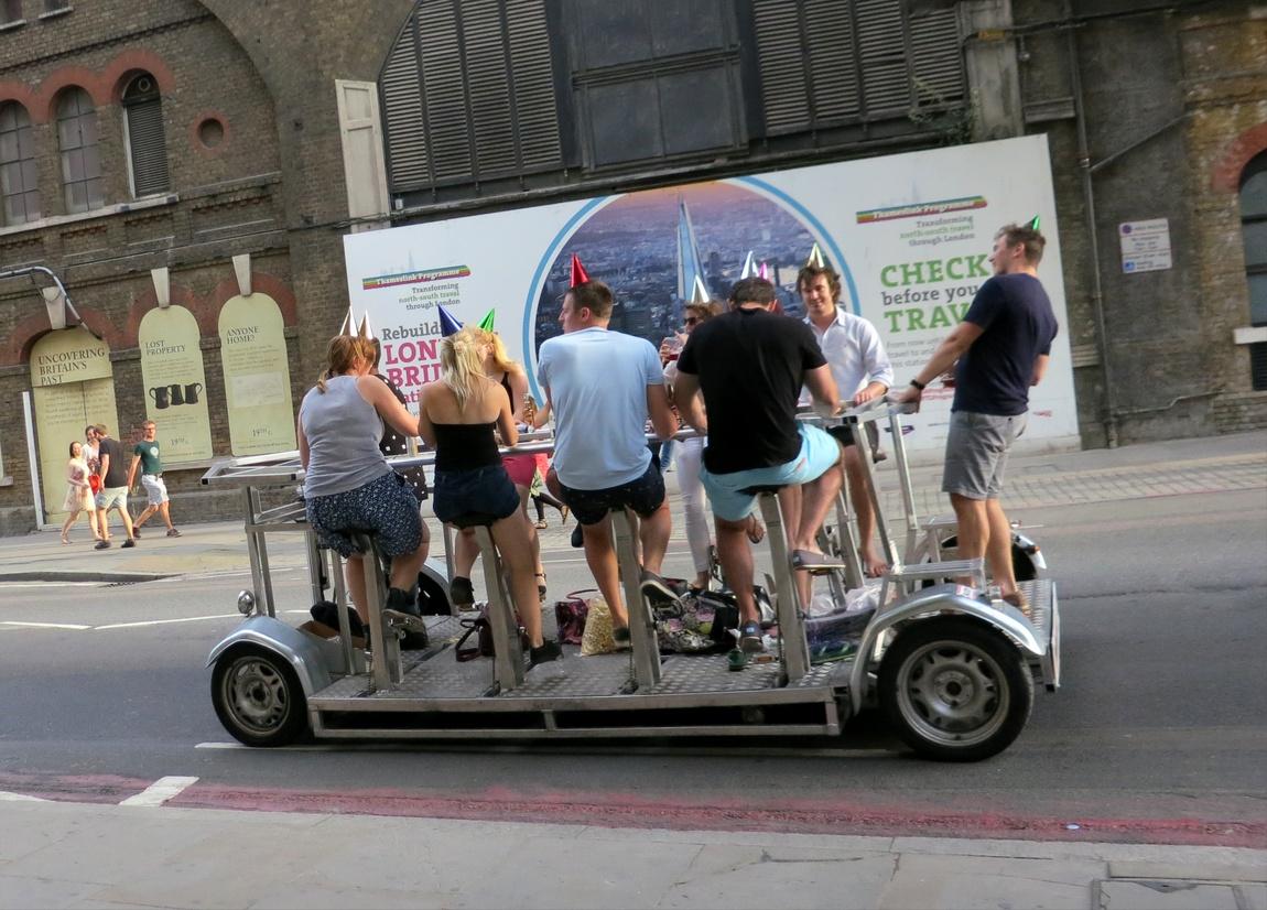 Платформа на педальной тяге City Cycle в Лондоне (Англия)