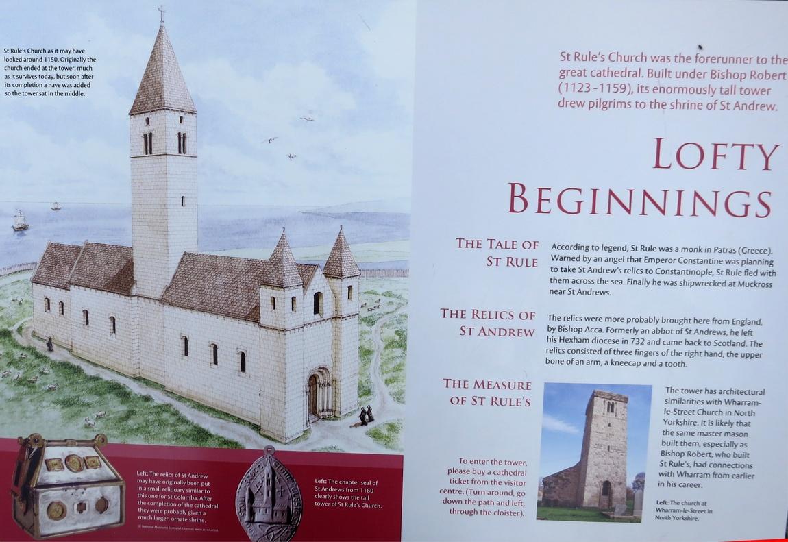 Собор Сент-Эндрюс в Шотландии - схема