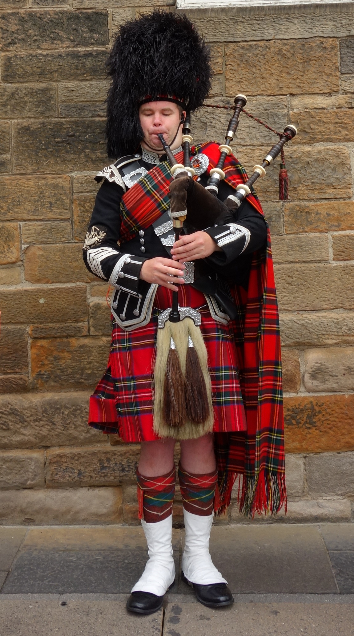 Картинка шотландца в национальном костюме