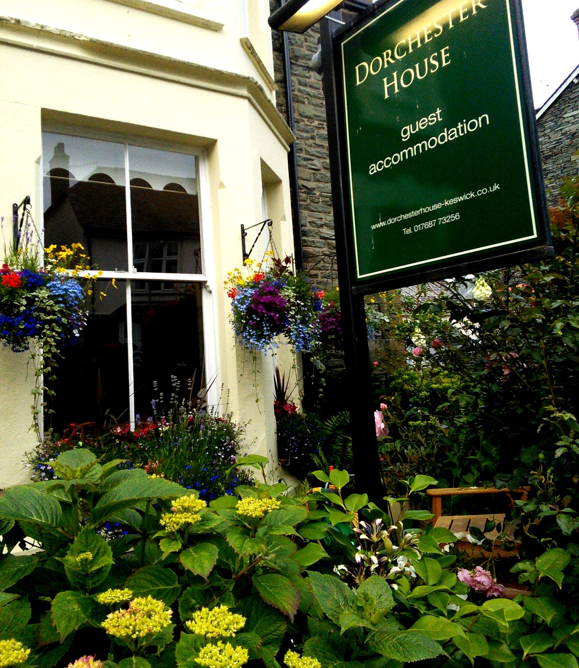 Цветники в городе Кесвик (Англия)