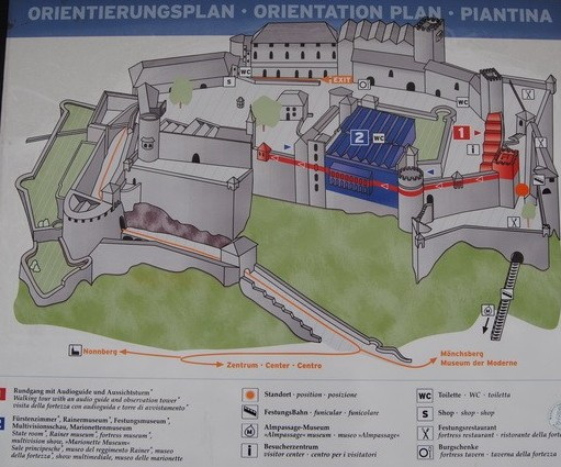 карта крепости Хоэнзальцбург