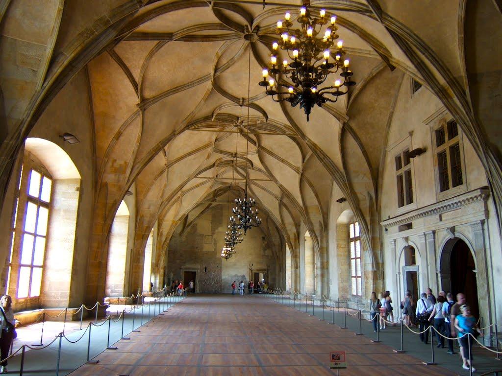 Владиславский зал старого королевского дворца Пражского града (Чехия)