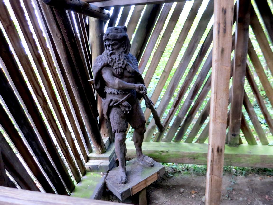 Экспозиция древнего человека в Ледниковом саду -Люцерн