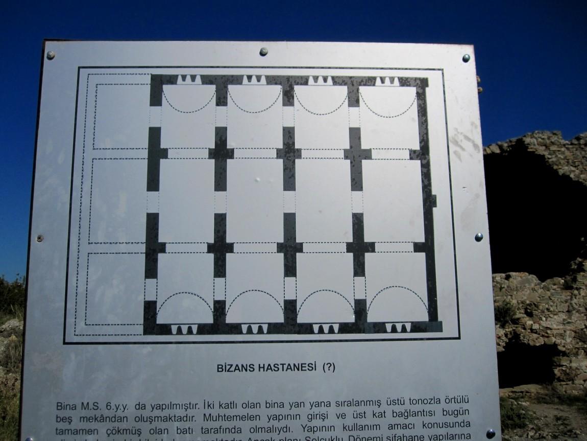 Византийский госпиталь в Сиде (Турция) - схема