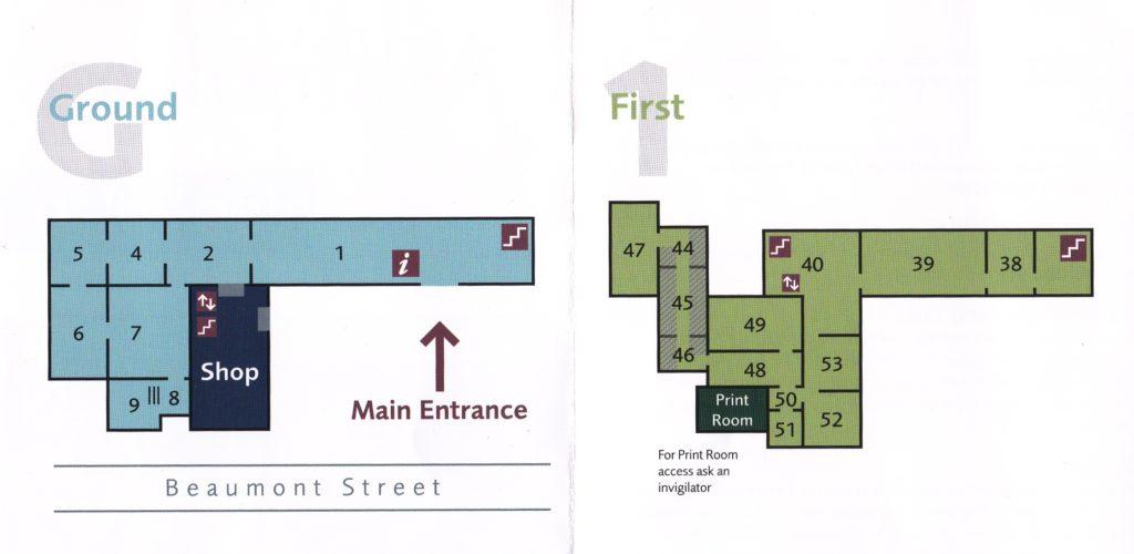 Схема музея Эшмола в Оксфорде