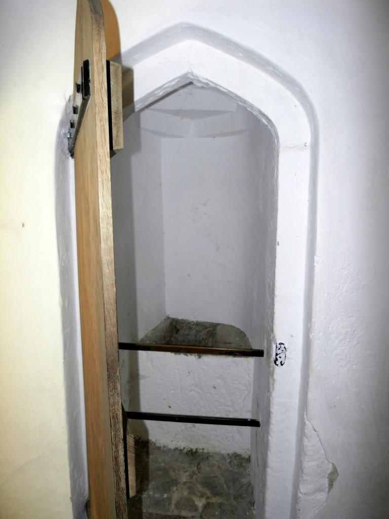 Замок Raglan Castle - туалет