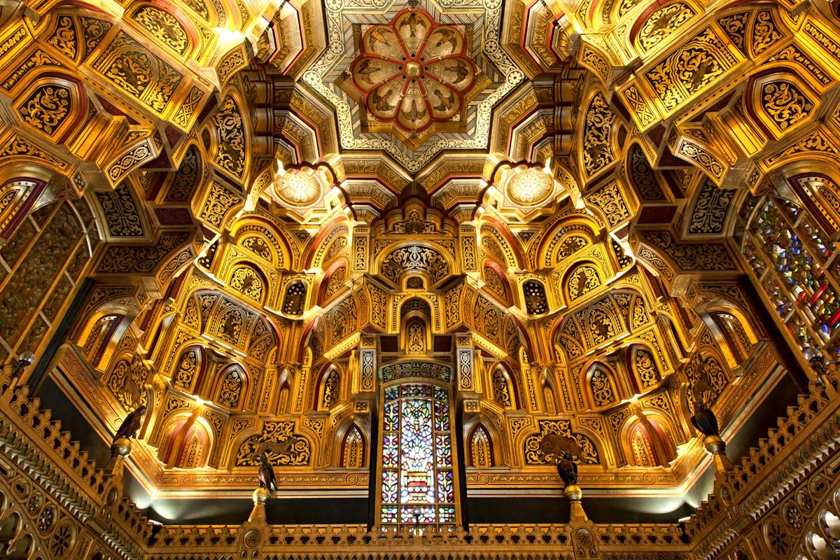 Потолок Арабского зала замка Кардифф