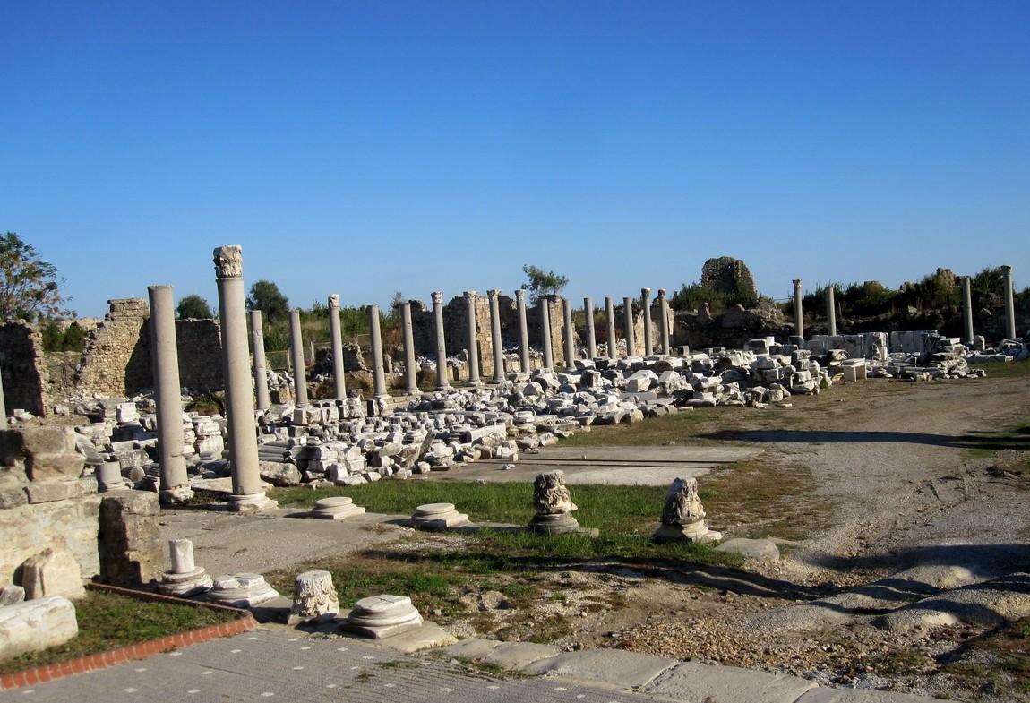 Руины Сиде древний город