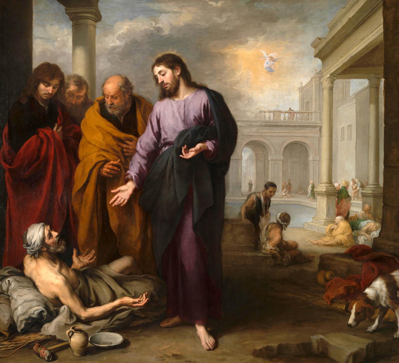 Иисус встретил и исцелил парализованного - Овчая купель