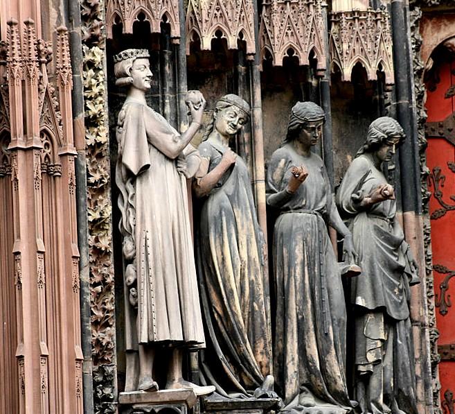 Искуситель и девы мудрые и неразумные - Страсбургский собор