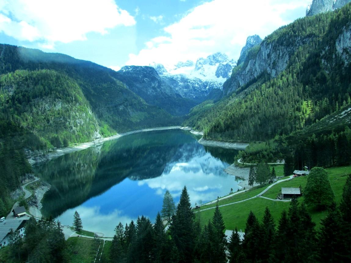 Горный массив Дахштайн - озеро Gosausee (Австрия)
